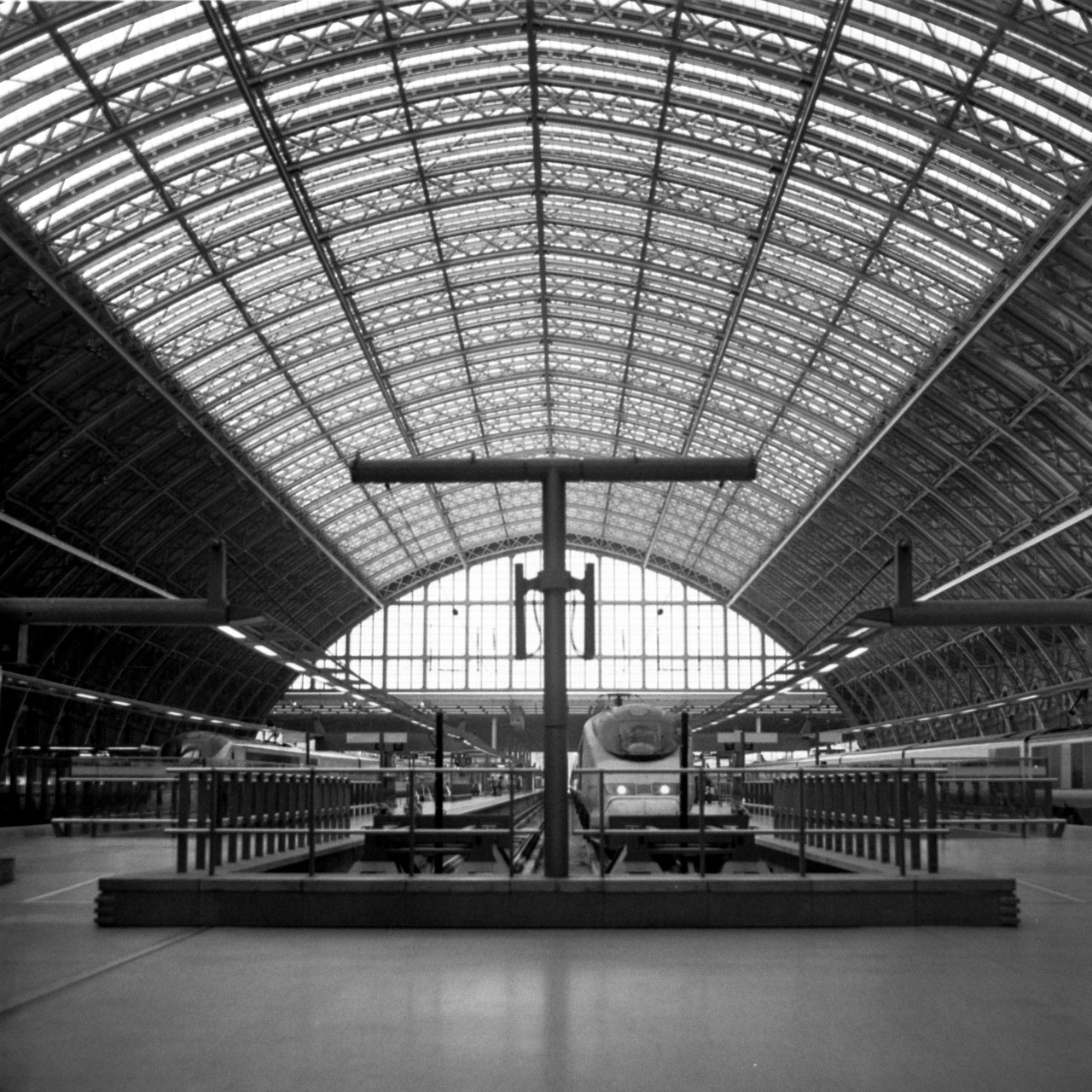Train station hangar